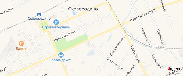 Партизанская улица на карте Сковородино с номерами домов