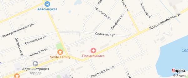 Верхний переулок на карте Сковородино с номерами домов