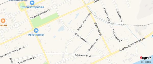 Локомотивная улица на карте Сковородино с номерами домов