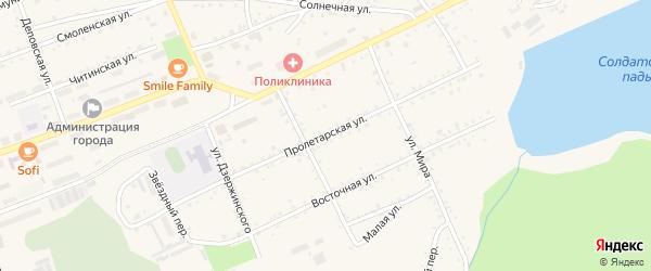 Пролетарская улица на карте Сковородино с номерами домов