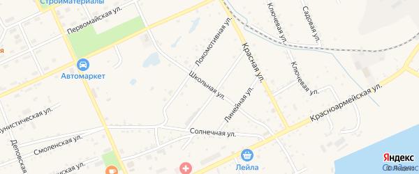 Школьная улица на карте Сковородино с номерами домов