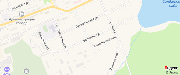 Восточная улица на карте Сковородино с номерами домов