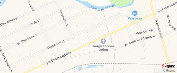 Таежный переулок на карте Сковородино с номерами домов