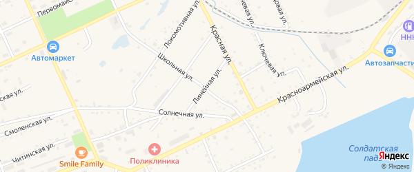 Линейная улица на карте Сковородино с номерами домов