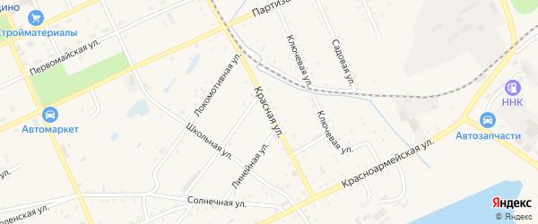 Красная улица на карте Сковородино с номерами домов