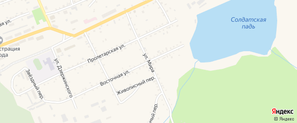 Улица Мира на карте Сковородино с номерами домов