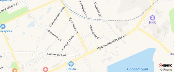 Северный переулок на карте Сковородино с номерами домов