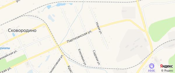 Садовая улица на карте Сковородино с номерами домов