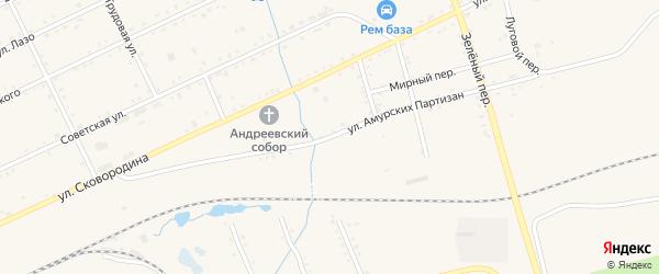 Улица Амурских Партизан на карте Сковородино с номерами домов