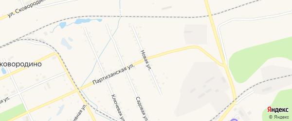 Новая улица на карте Сковородино с номерами домов