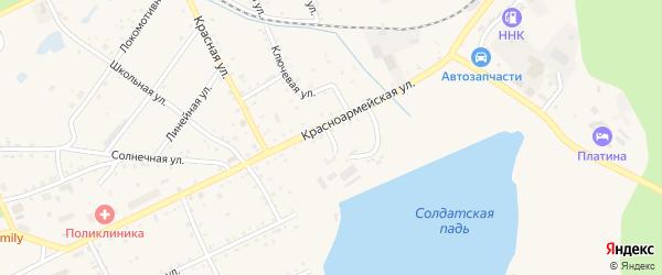 Заозерный переулок на карте Сковородино с номерами домов