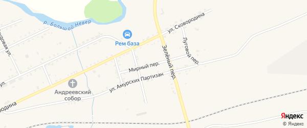 Мирный переулок на карте Сковородино с номерами домов