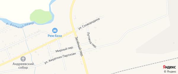 Луговой переулок на карте Сковородино с номерами домов