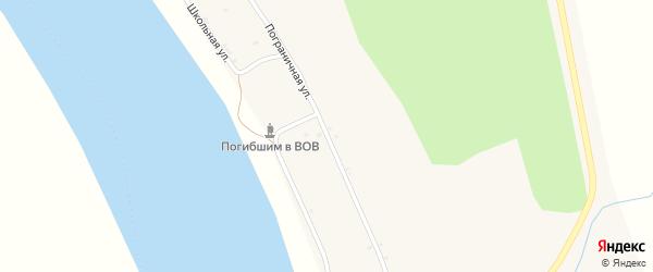 Пограничная улица на карте села Албазино с номерами домов