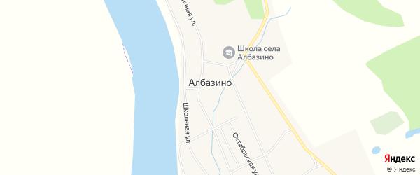Карта села Албазино в Амурской области с улицами и номерами домов