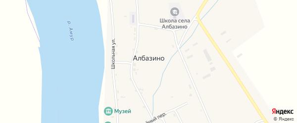 Заречная улица на карте села Албазино с номерами домов