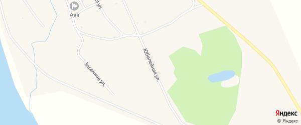 Юбилейная улица на карте села Албазино с номерами домов