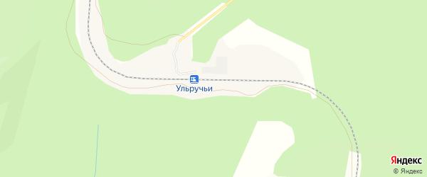 Карта железнодорожной станции Ульручьи в Амурской области с улицами и номерами домов