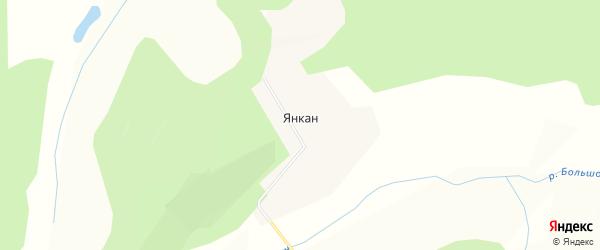 Карта села Янкан в Амурской области с улицами и номерами домов
