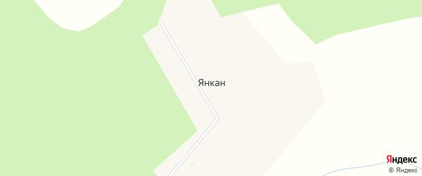 Таежная улица на карте села Янкан с номерами домов