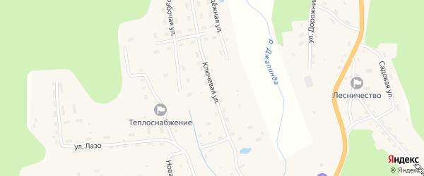 Ключевая улица на карте села Соловьевск с номерами домов