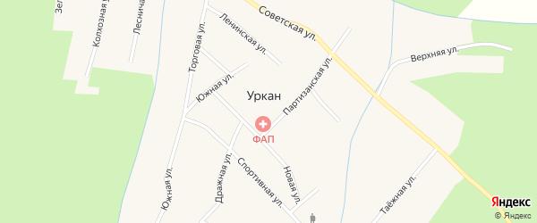 Улица Пушкина на карте села Уркана с номерами домов