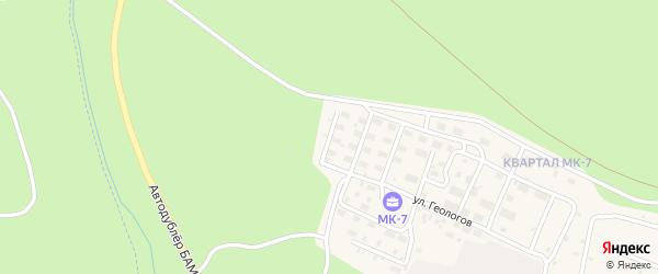 Беговая улица на карте Тынды с номерами домов