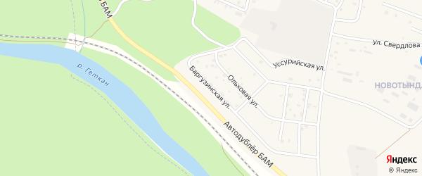 Баргузинская улица на карте Тынды с номерами домов