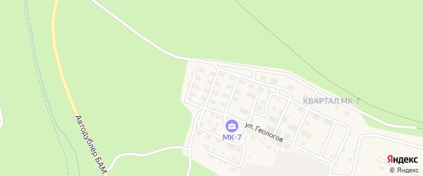 Кооперативная улица на карте Тынды с номерами домов