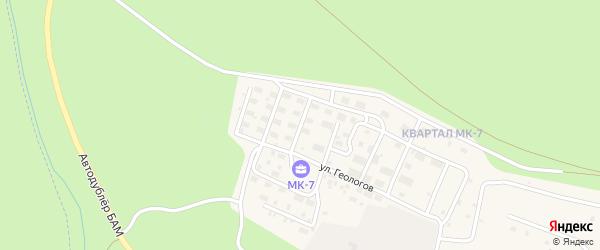 Образцовая улица на карте Тынды с номерами домов