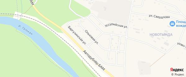 Ольховая улица на карте Тынды с номерами домов