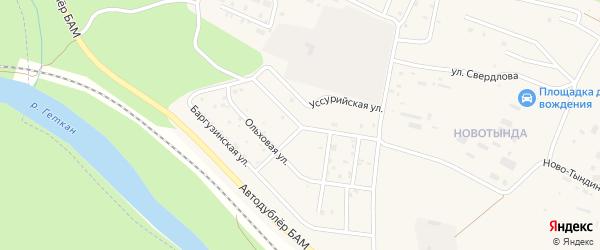 Брусничная улица на карте Тынды с номерами домов