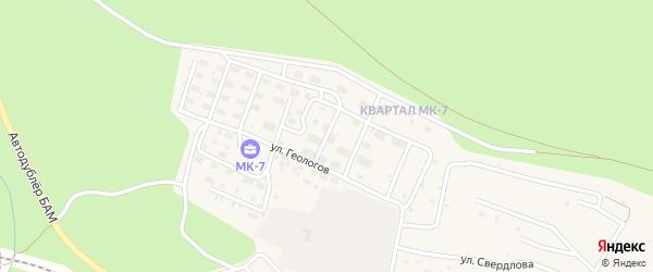 Брестская улица на карте Тынды с номерами домов