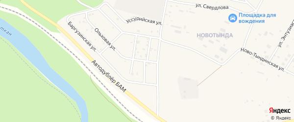 Улица Монтажников на карте Тынды с номерами домов