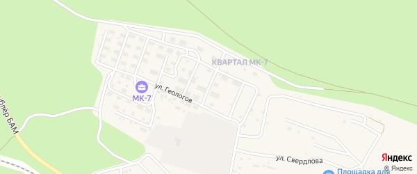 Краснодарская улица на карте Тынды с номерами домов