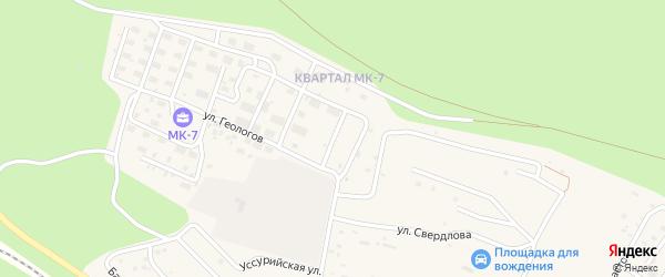 Сосновая улица на карте Тынды с номерами домов