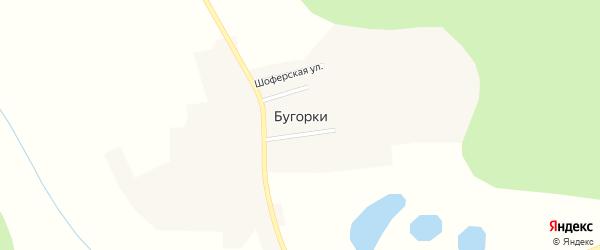 Лесная улица на карте села Бугорки с номерами домов