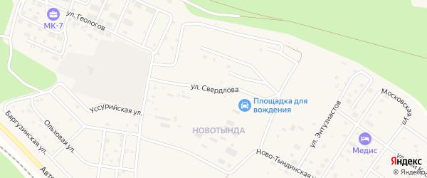 Улица Свердлова на карте Тынды с номерами домов