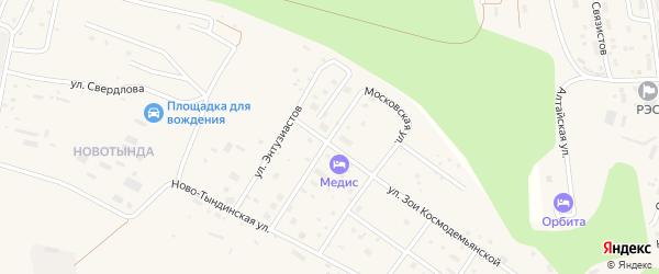 Московская улица на карте Тынды с номерами домов