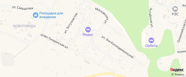 Магистральная улица на карте Тынды с номерами домов