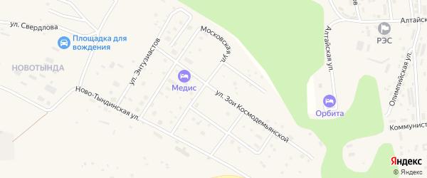 Улица Космодемьянской Зои на карте Тынды с номерами домов