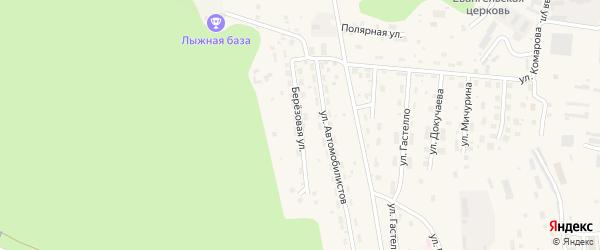 Березовая улица на карте Тынды с номерами домов