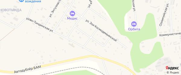 Пионерская улица на карте Тынды с номерами домов