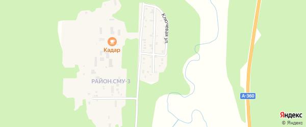 Тихая улица на карте Тынды с номерами домов