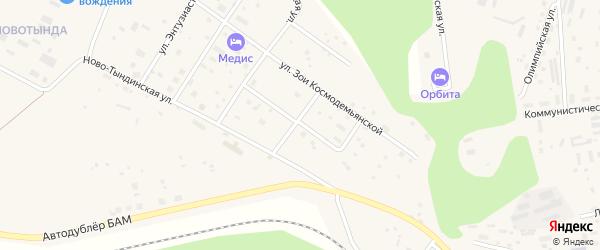 Строительная улица на карте Тынды с номерами домов