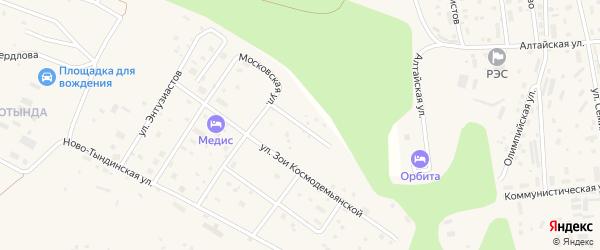 Улица Первопроходцев на карте Тынды с номерами домов