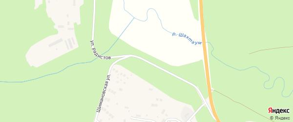 Улица Радистов на карте Тынды с номерами домов