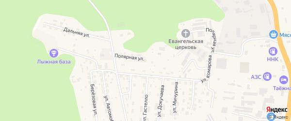 Полярная улица на карте Тынды с номерами домов