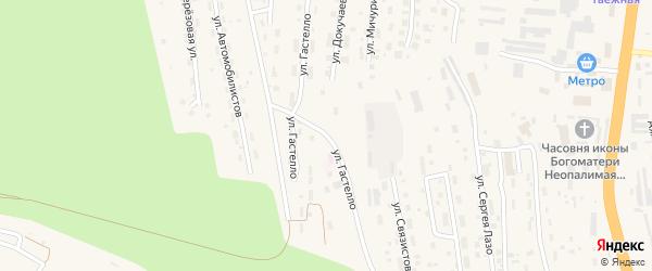 Улица Гастелло на карте Тынды с номерами домов