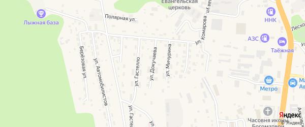 Улица Докучаева на карте Тынды с номерами домов